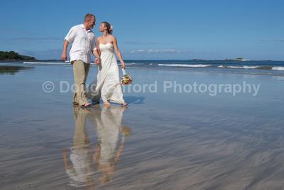 Wedding on the beach in Costa Rica