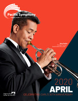 Pacific Symphony April 2020 Program cover, Barry Perkins