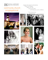 Community Church Wedding Promo Card