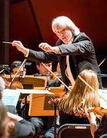 Carl St. Clair conducts the Pacific Symphony performs at Musco Center for the Arts