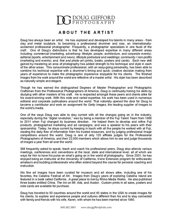 DGP About the Artist